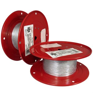 3 / 64 X 250 FT, 7X7 Hot Dip Galvanized Steel Cable