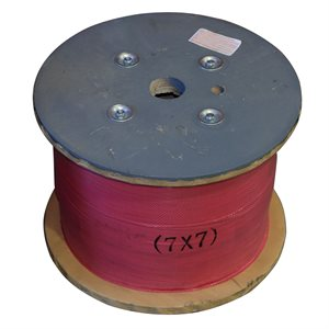 1 / 8 X 5000 FT, 7X7 Hot Dip Galvanized Steel Cable
