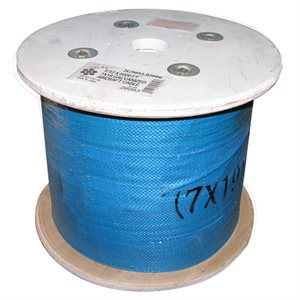 3 / 64 X 5000 FT, 7X7 Hot Dip Galvanized Steel Cable