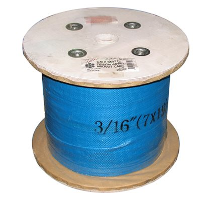 1 / 8 X 1000 FT, 7X7 Galvanized Aircraft Cable