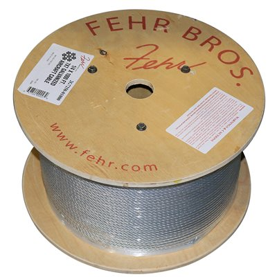 3 / 64 X 5000 FT 1X19 Galvanized Aircraft Cable