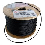 1 / 16 X 1000 FT, 7X7 Black Galvanized Aircraft Cable