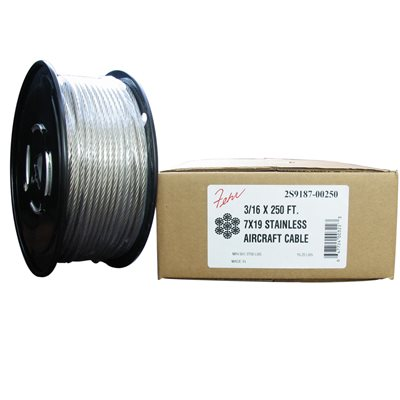 3 / 64 X 1000 FT, 7X7 Stainless Steel Aircraft Cable