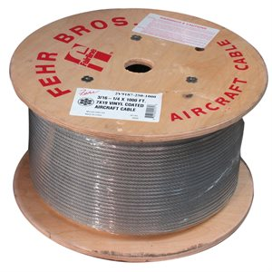 1 / 16 X 5000 FT 1X19 Hot Dip Galvanized Steel Cable