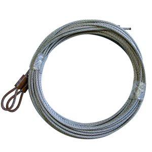 3 / 32 X 156 7X7 GAC Garage Door Plain Loop Extension Lift Cables - Brown