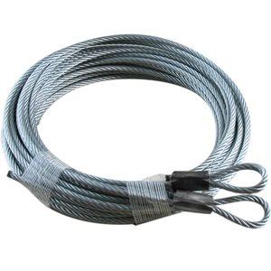 1 / 8 X 156 7X19 GAC Garage Door Plain Loop Extension Lift Cables - Gray