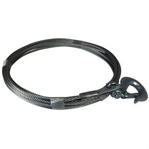 3 / 16 X 25 FT Winch Cable with Hook
