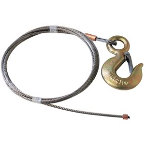 1 / 4 X 50 FT 7X19 Stainless w 2 Ton Alloy Hoist Hook