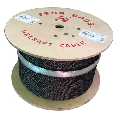 1 / 2 X 5000 FT 6X25 Fiber Core Bright Wire Rope