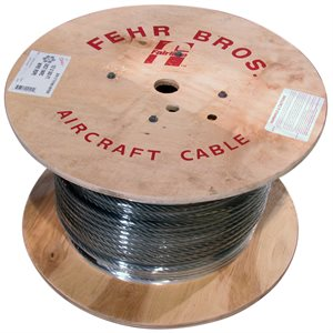 3 / 16 X 250 FT 6X19 Fiber Core Bright Wire Rope