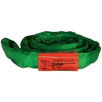 EN60 X 3 FT Green Tuflex Polyester Roundsling