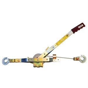 "1 Ton Come-Along, 12' Cable, 12' lift, 15:1 Leverage, 3 / 16"" Cable Diameter"