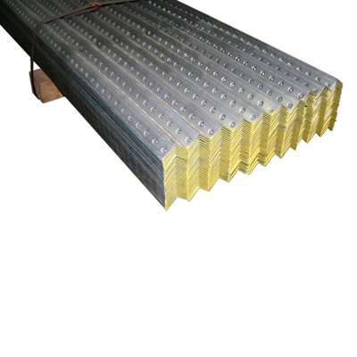 1-1 / 4 X 1-1 / 4 X 8 FT 12 Gauge Galvanized Perforated Angle -Yellow