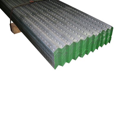 1-1 / 4 X 1-1 / 4 X10 FT 14 Gauge Green Galvanized Perforated Angle