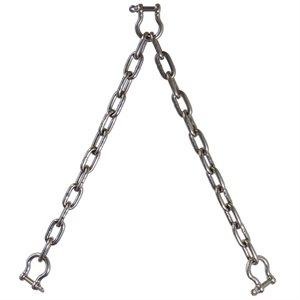 """Double Leg Chain Bridle T316 1"""" X 2'"""