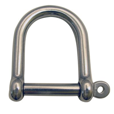 """3 / 8 Type 316 Stainless Steel Wide """"D"""" Shackle"""